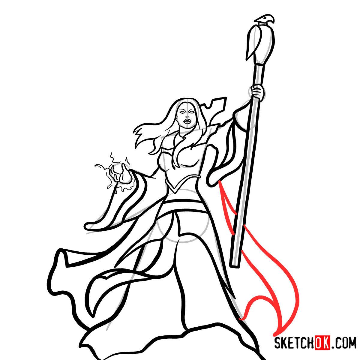 How to draw Aegwynn | World of Warcraft - step 15