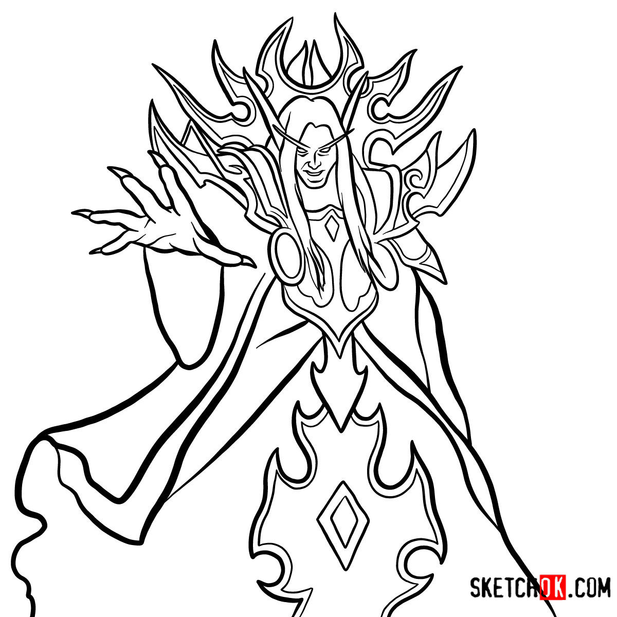 How to draw Kael'thas Sunstrider | World of Warcraft - coloring