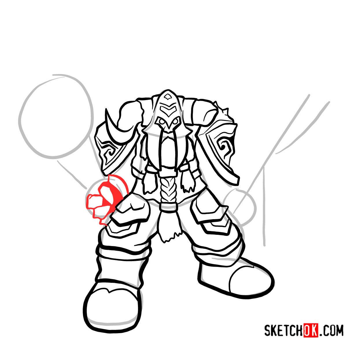How to draw Muradin Bronzebeard | World of Warcraft - step 08