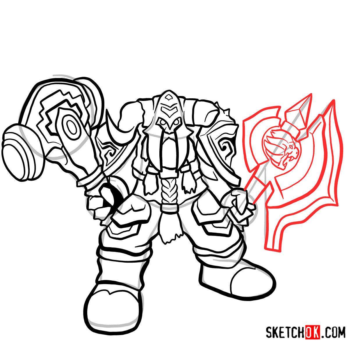 How to draw Muradin Bronzebeard | World of Warcraft - step 11