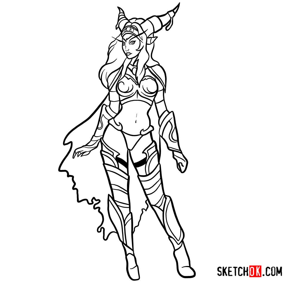 How to draw Alexstrasza | World of Warcraft