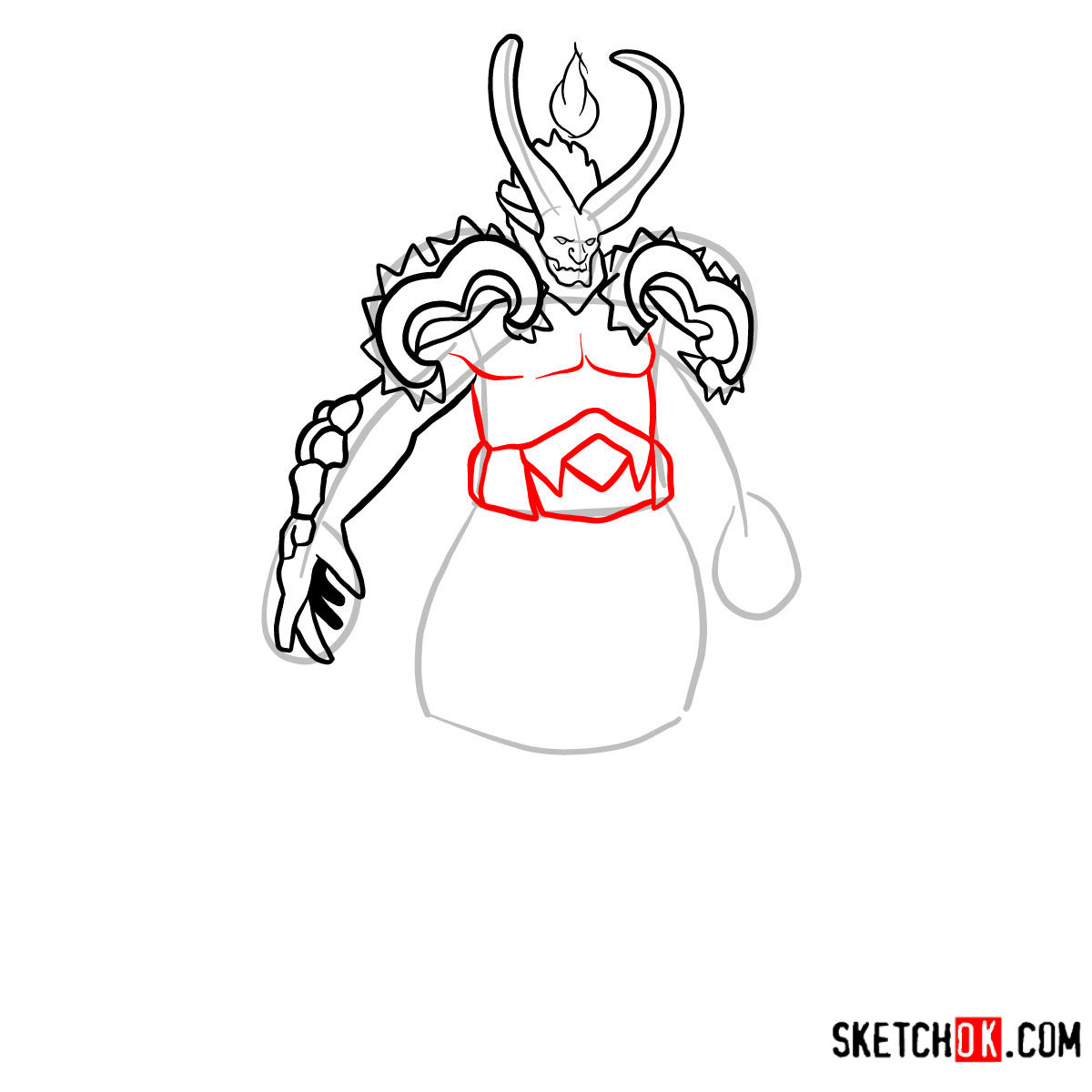 How to draw Sargeras | World of Warcraft - step 09
