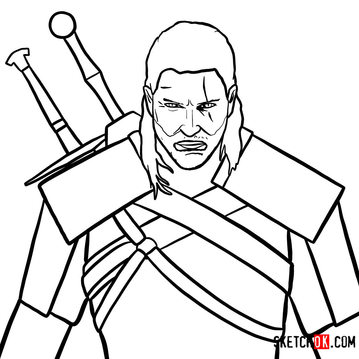 How to draw Geralt of Rivia | The Witcher
