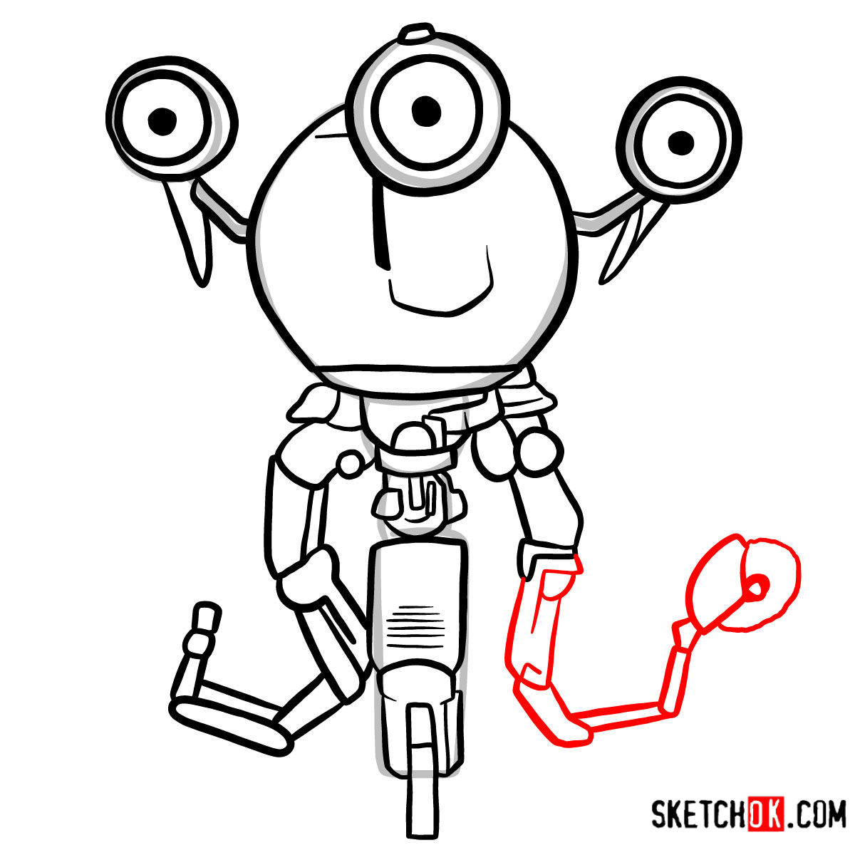 How to draw Codsworth | Fallout - step 11