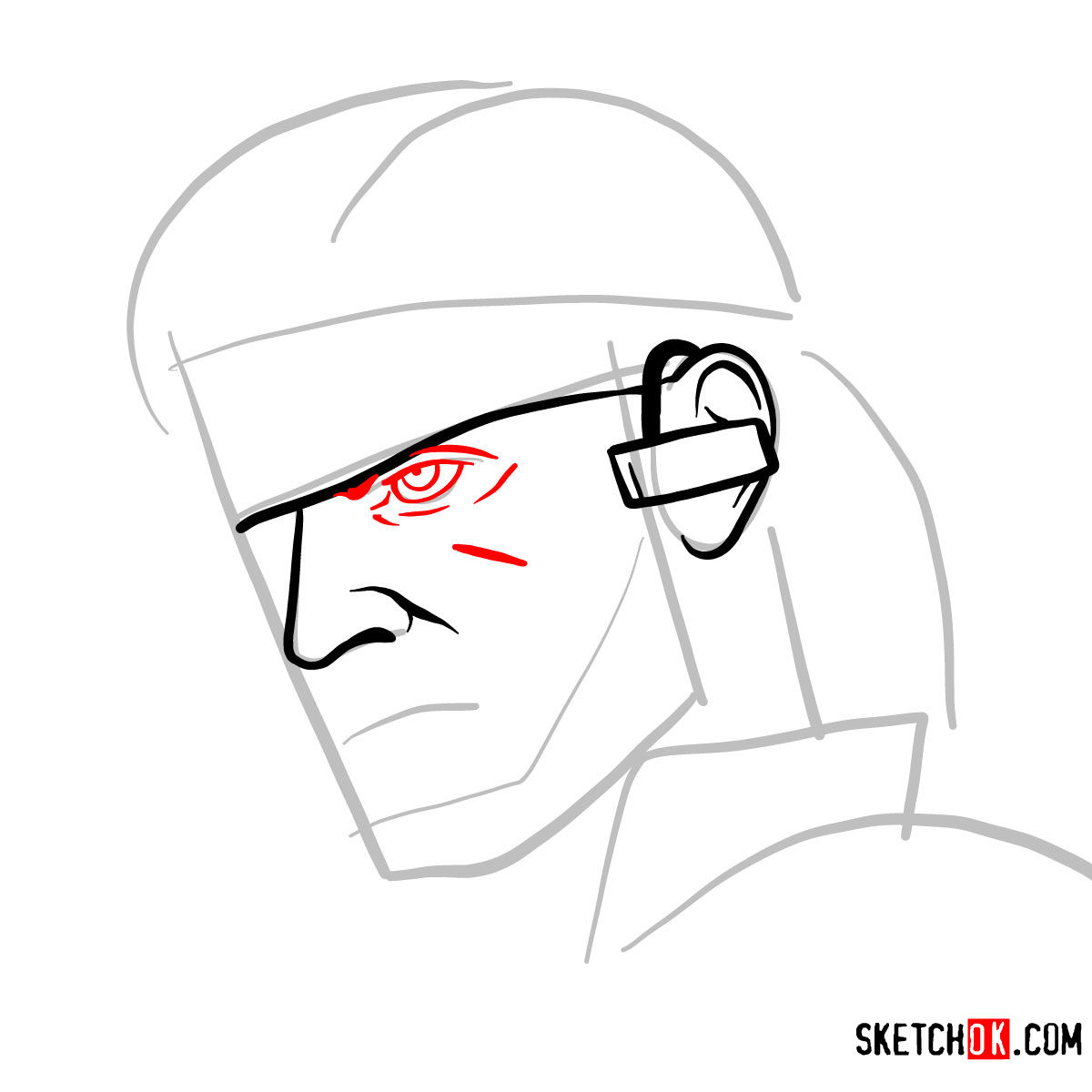How To Draw Venom Snake S Face Metal Gear Solid Step By Step