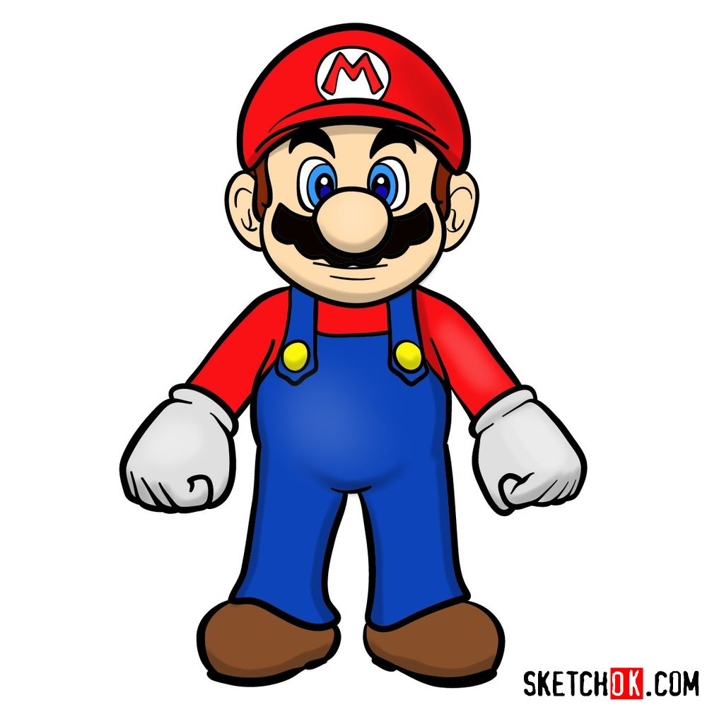 How to draw Mario from Super Mario games
