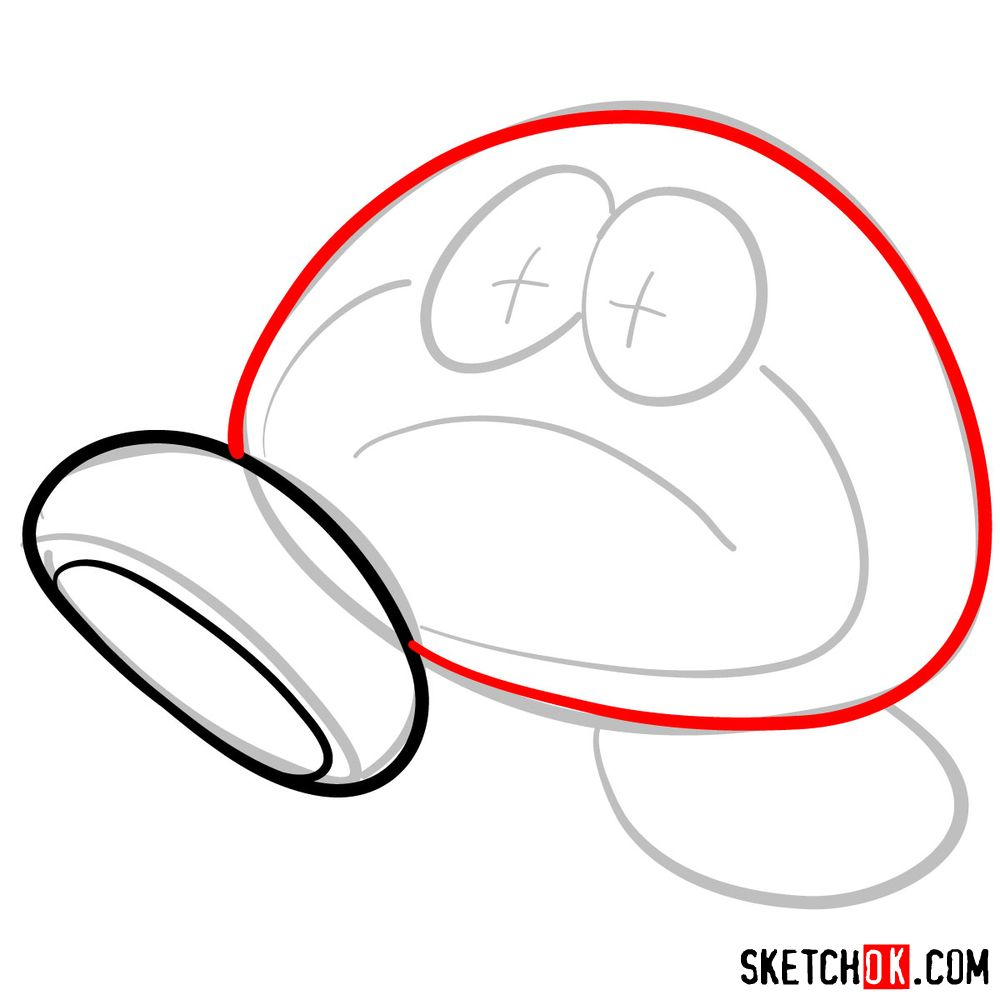 How to draw Galoomba from Super Mario games - step 03