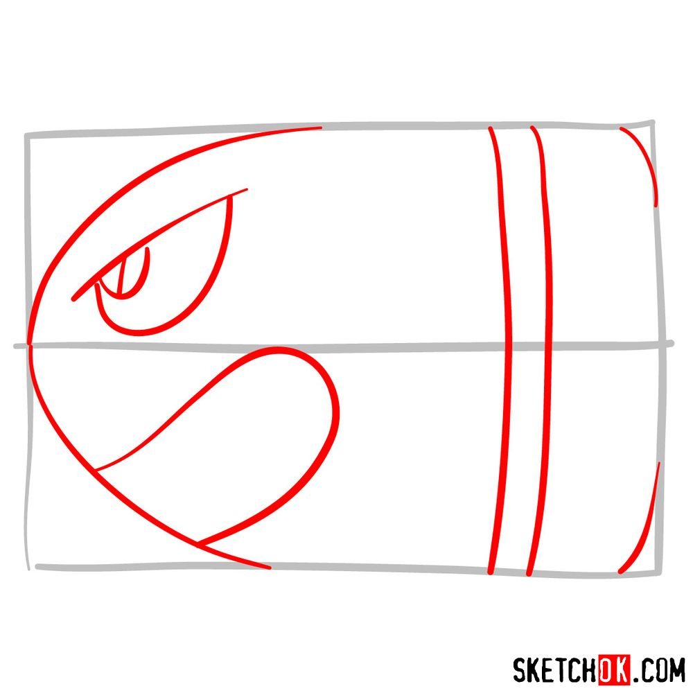 How to draw Banzai Bill from Super Mario games - step 02