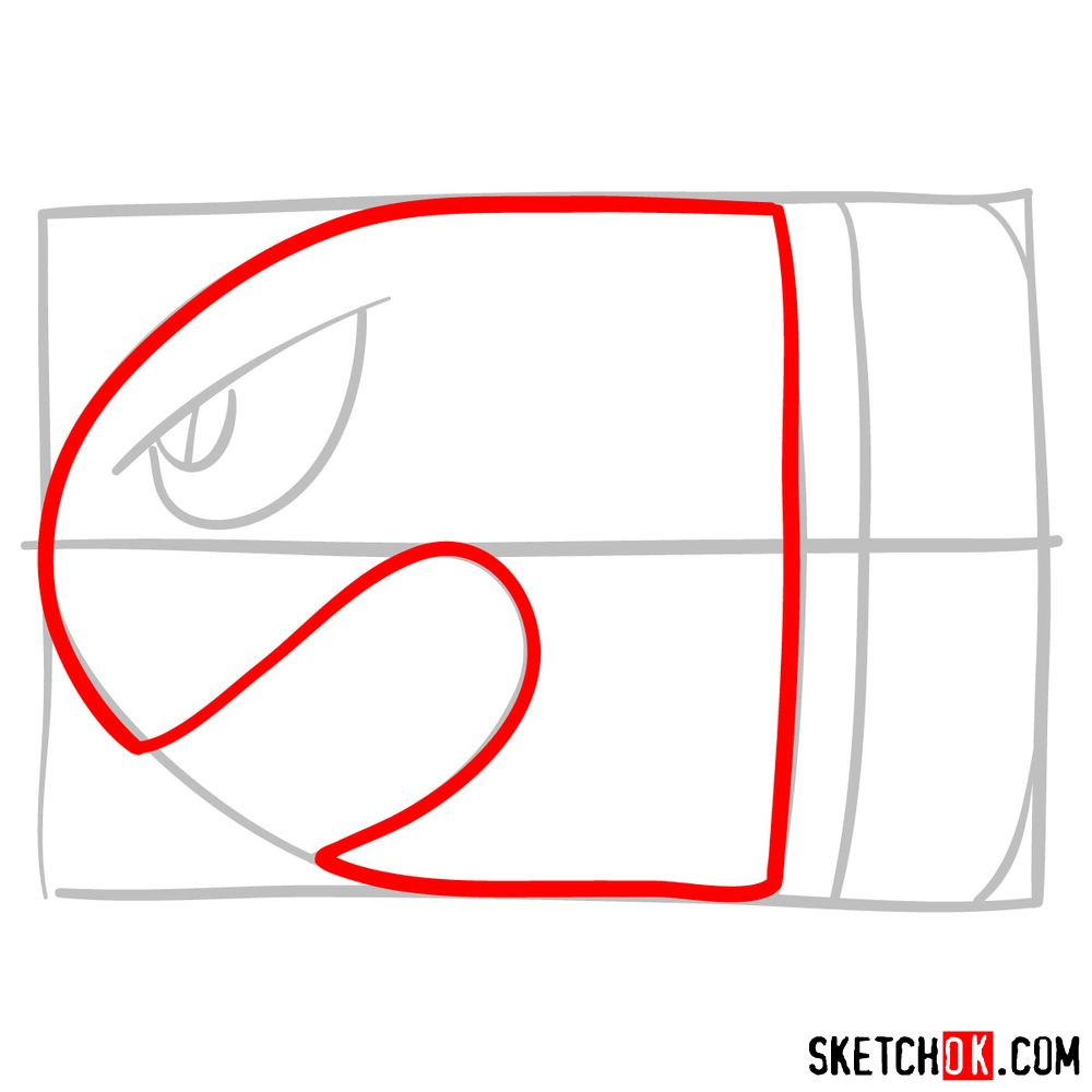 How to draw Banzai Bill from Super Mario games - step 03
