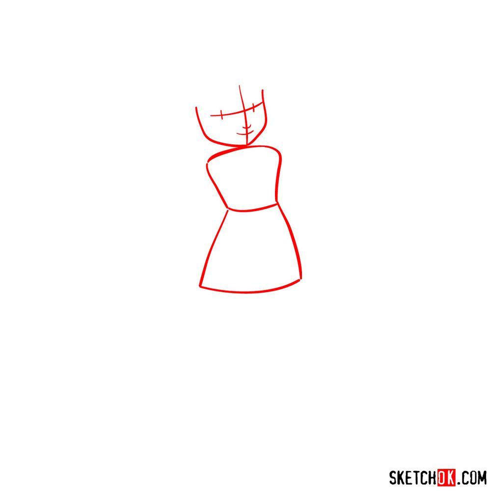 How to draw Princess Daisy - step 01