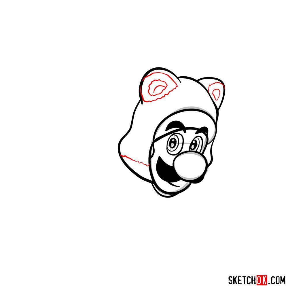 How to draw cat Luigi - step 07
