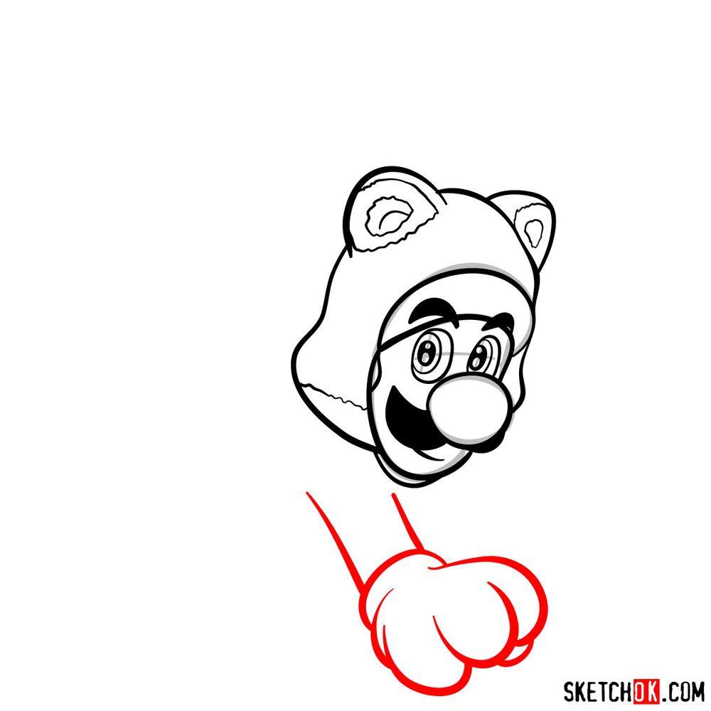 How to draw cat Luigi - step 08