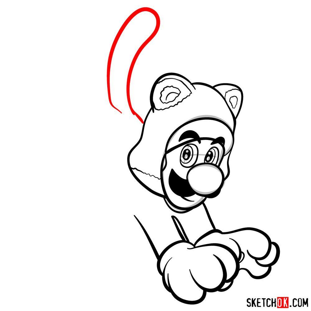 How to draw cat Luigi - step 10