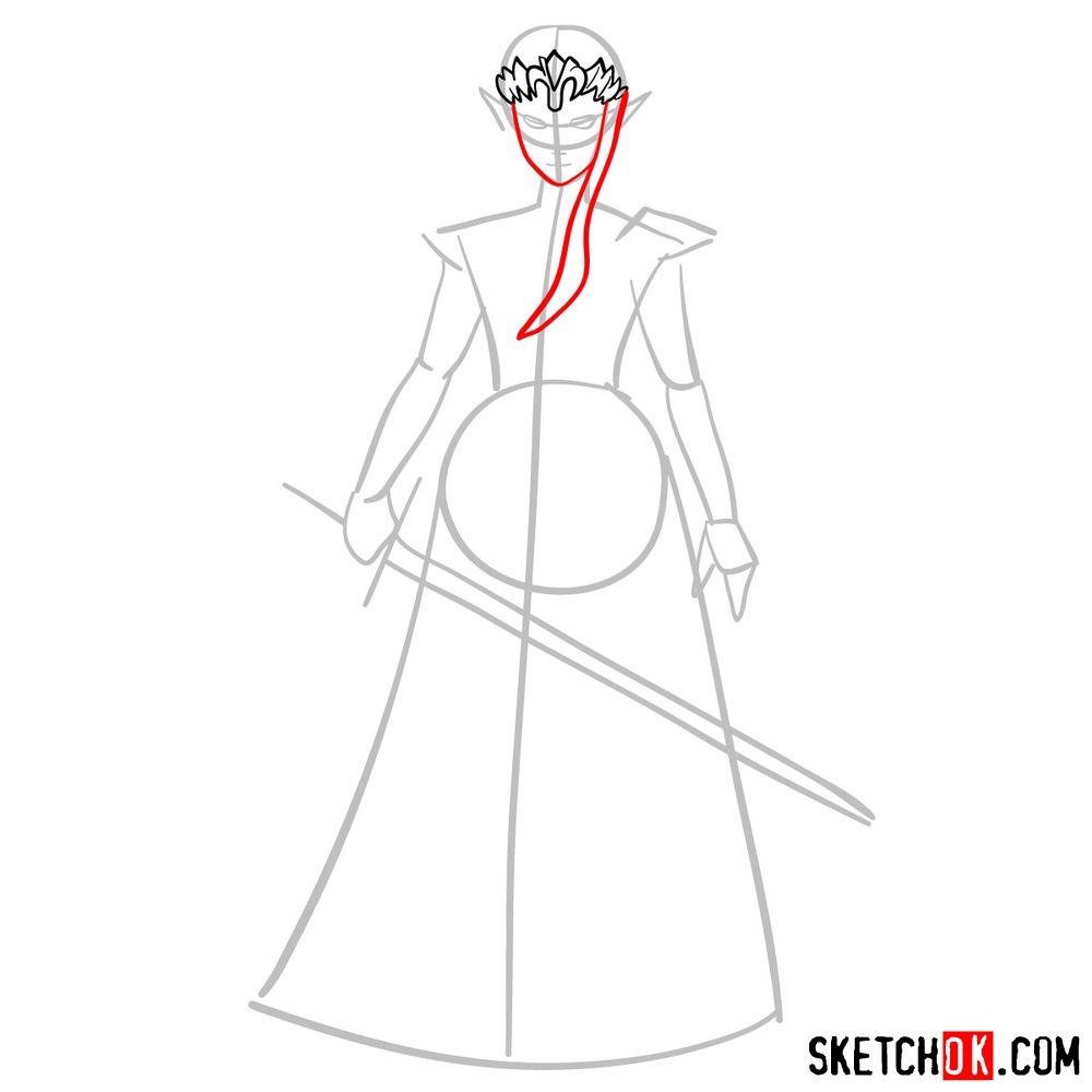 How to draw Princess Zelda (Ocarina of Time) - step 04