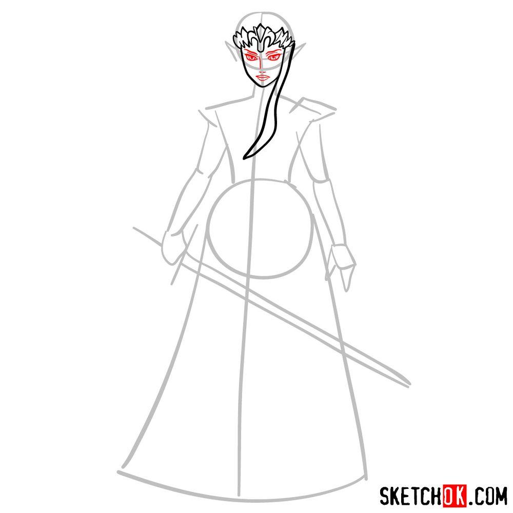 How to draw Princess Zelda (Ocarina of Time) - step 05