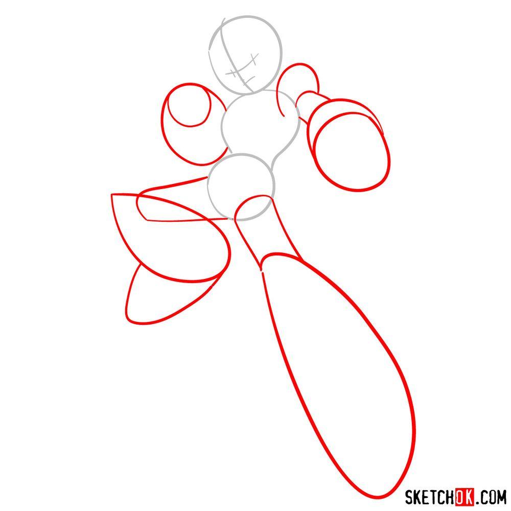 How to draw Mega Man - step 02