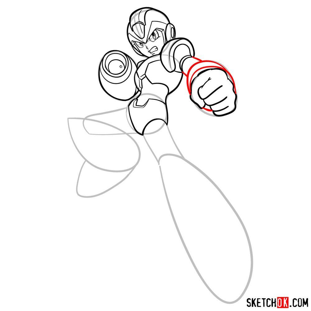 How to draw Mega Man - step 13