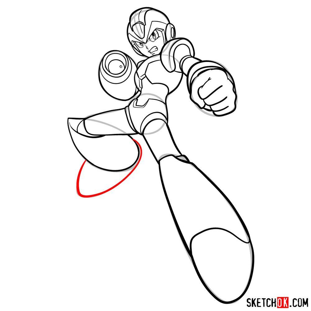 How to draw Mega Man - step 17