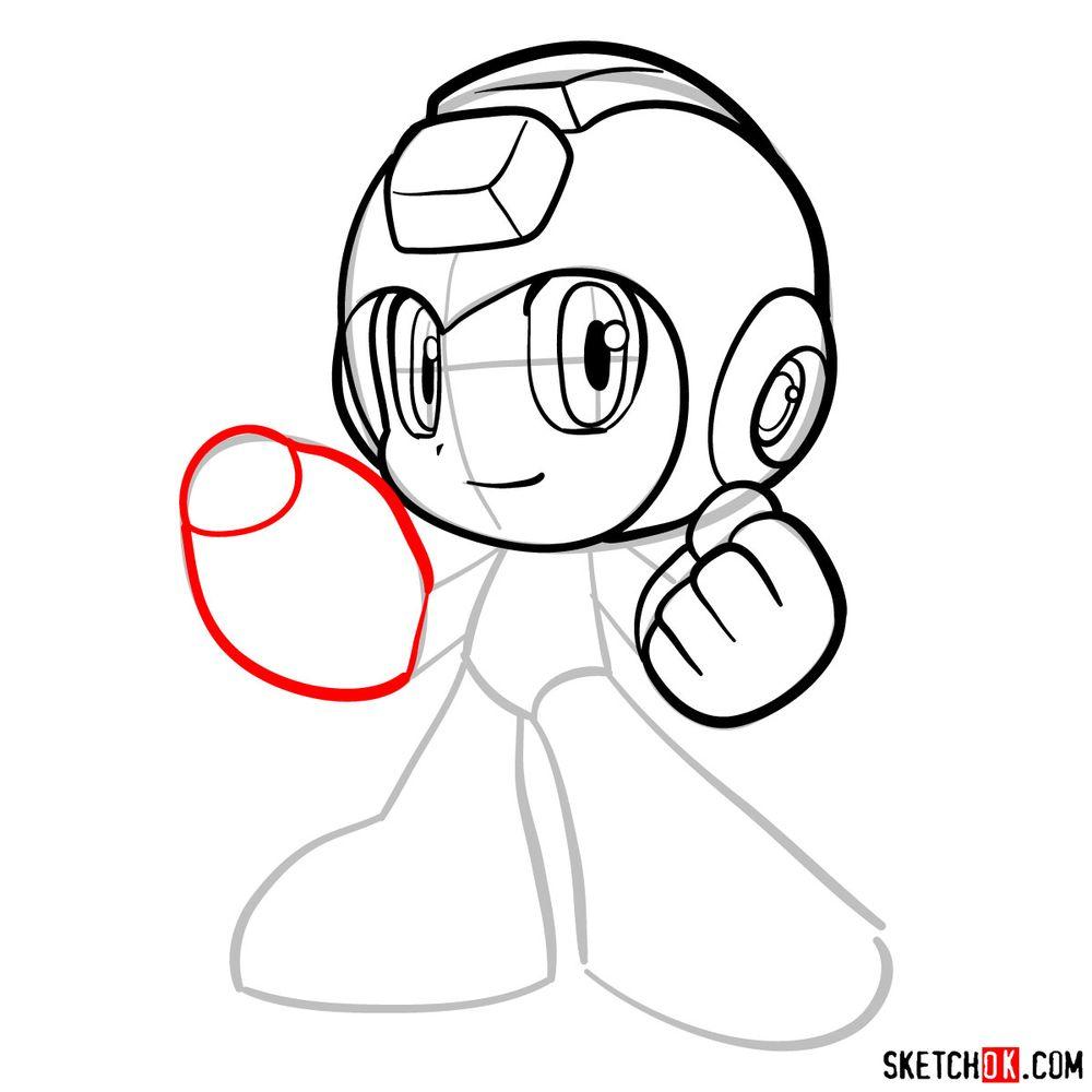 How to draw Mega Man chibi - step 10