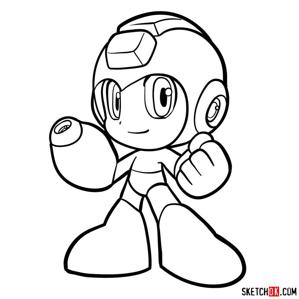 How to draw Mega Man chibi