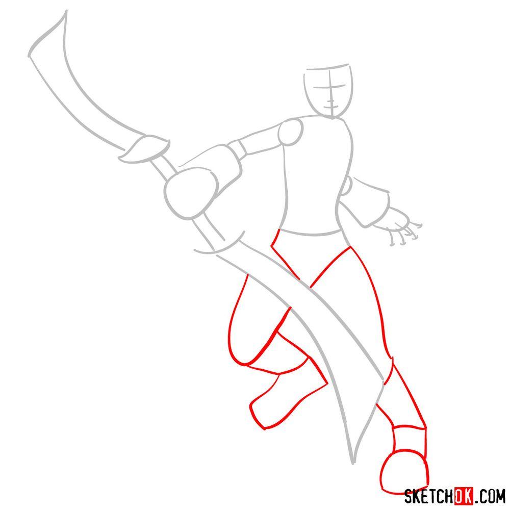 How to draw Zidane Tribal - step 02