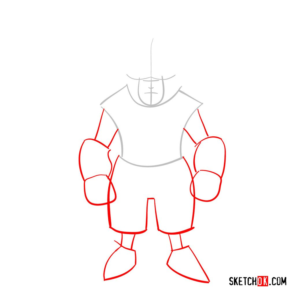 How to draw Adelbert - step 02