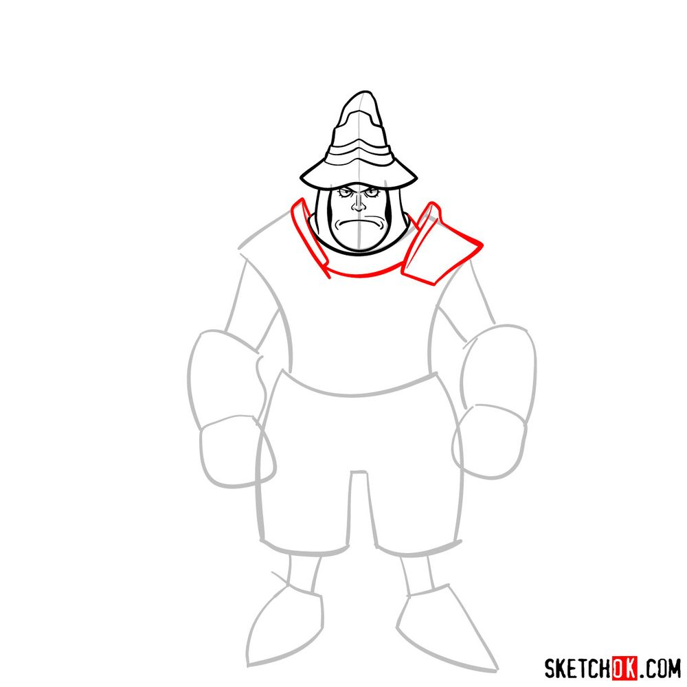 How to draw Adelbert - step 06