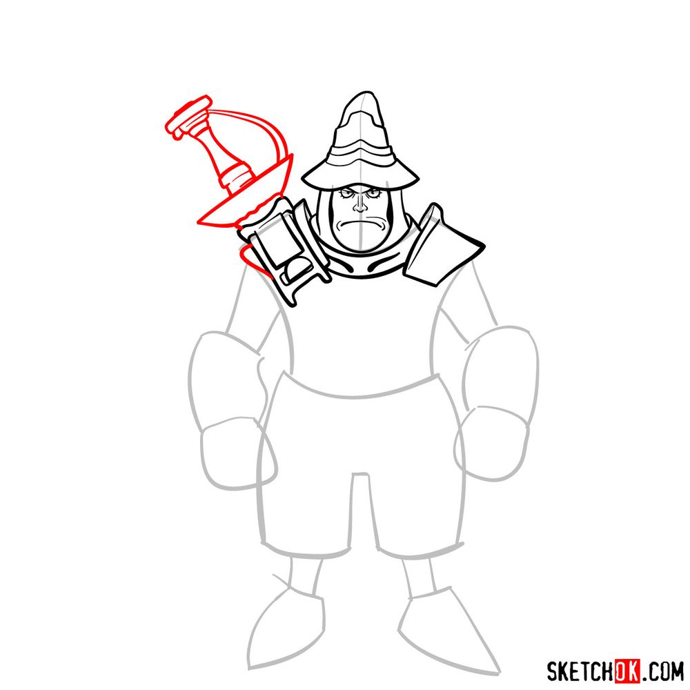 How to draw Adelbert - step 08