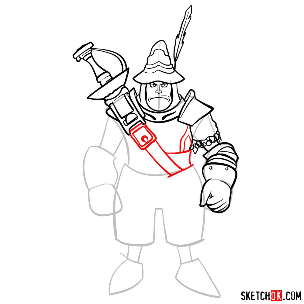 How to draw Adelbert - step 11