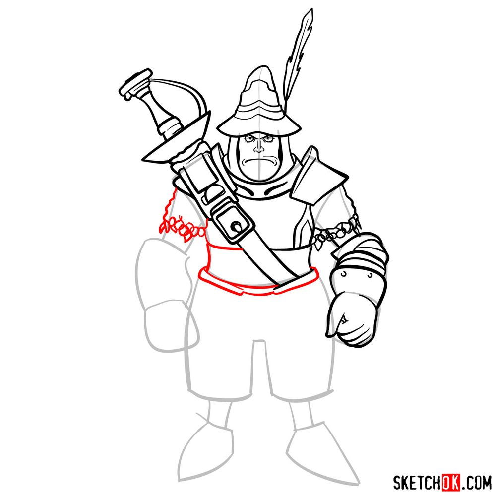 How to draw Adelbert - step 12