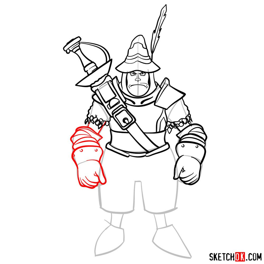 How to draw Adelbert - step 13