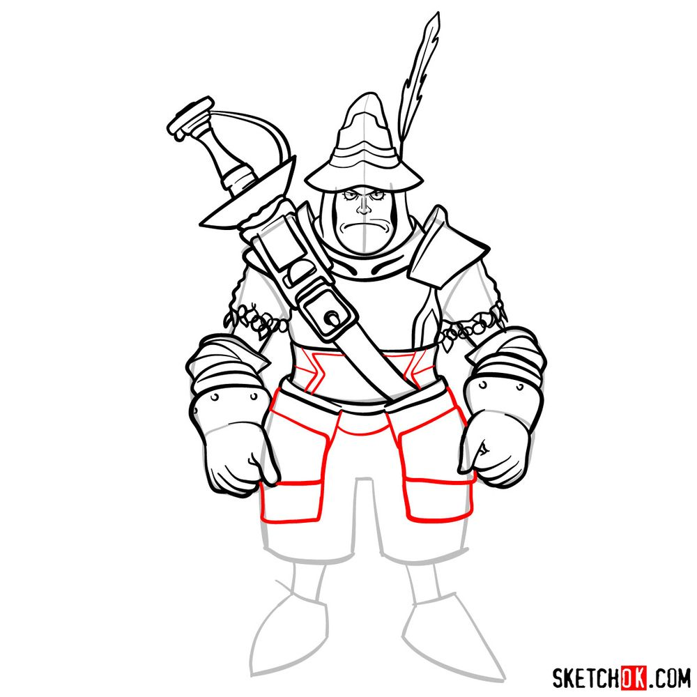 How to draw Adelbert - step 14