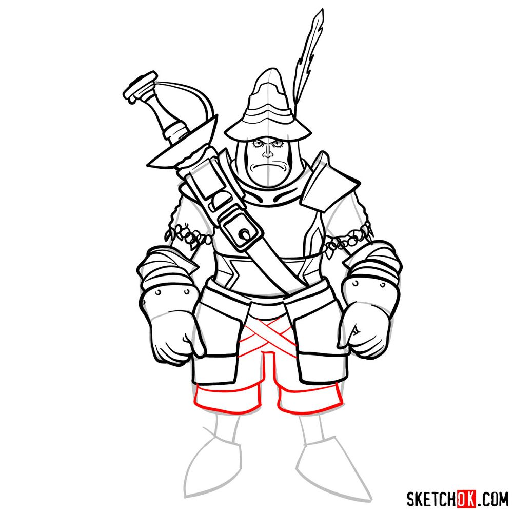 How to draw Adelbert - step 15
