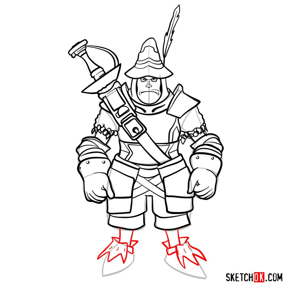 How to draw Adelbert - step 16
