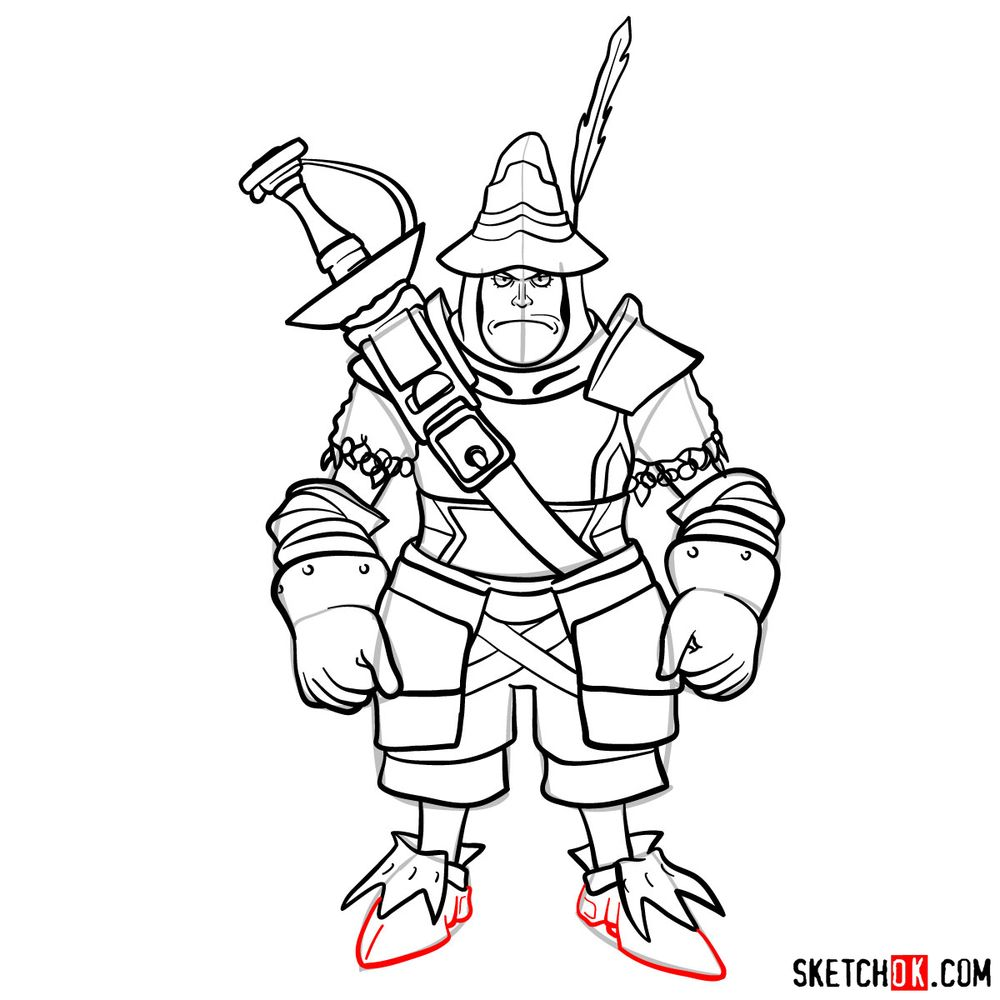How to draw Adelbert - step 17
