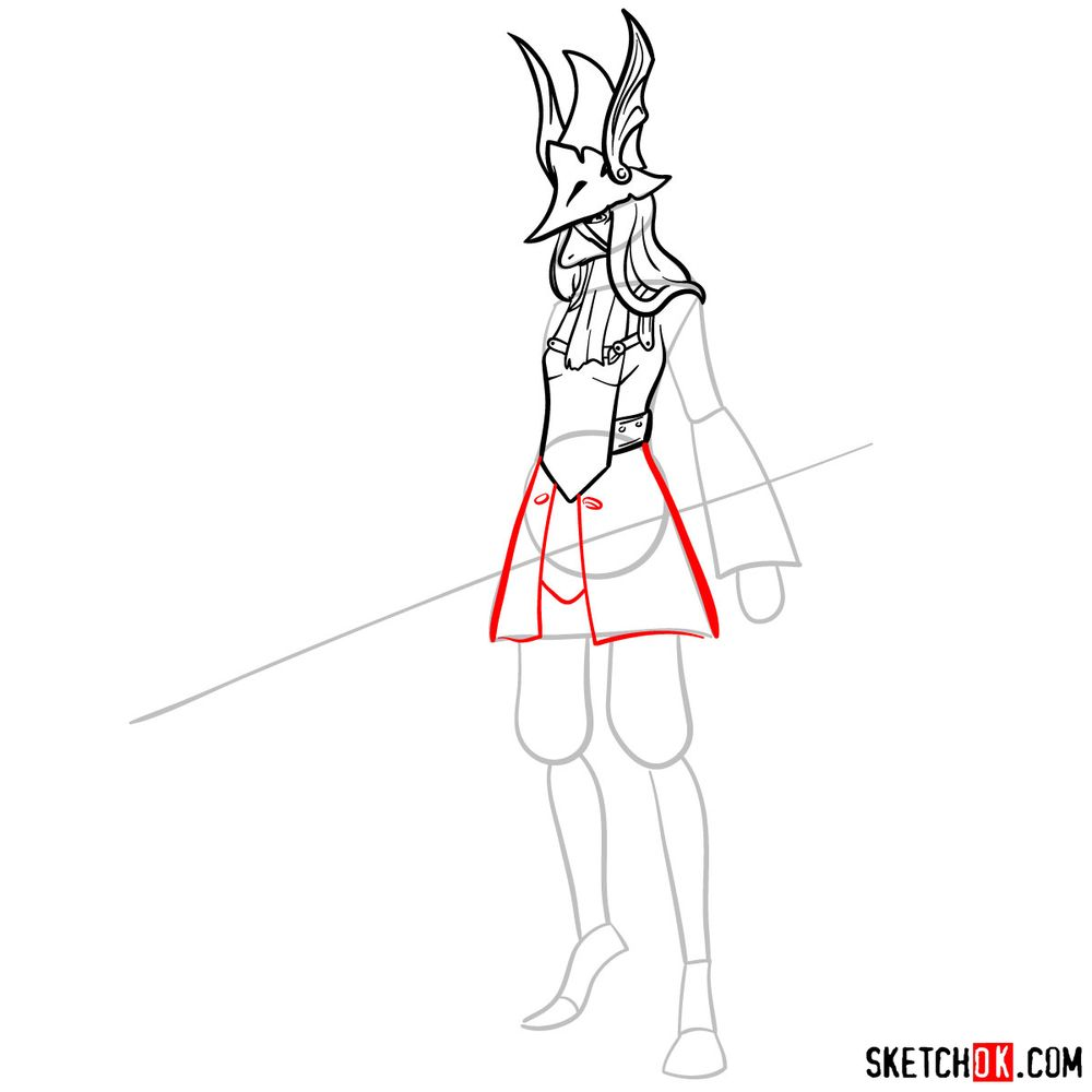 How to draw Freya Crescent - step 09