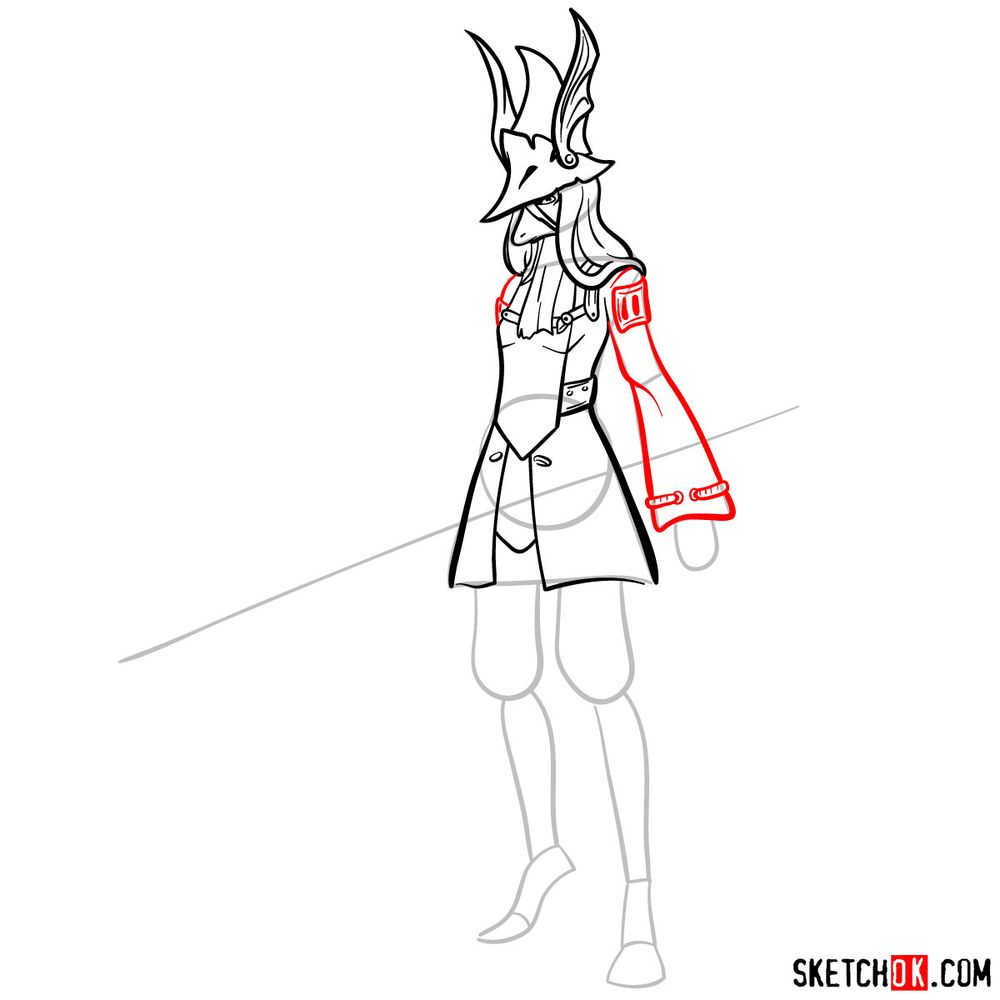 How to draw Freya Crescent - step 10