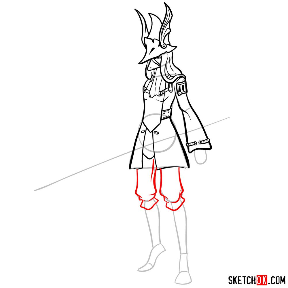 How to draw Freya Crescent - step 11