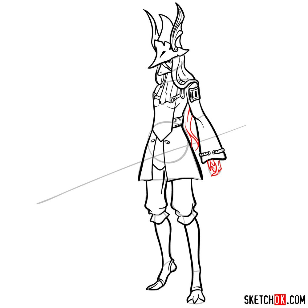 How to draw Freya Crescent - step 13