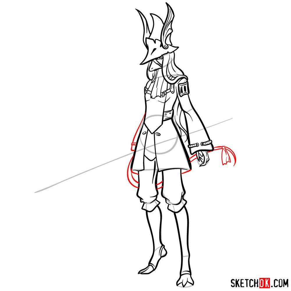 How to draw Freya Crescent - step 14