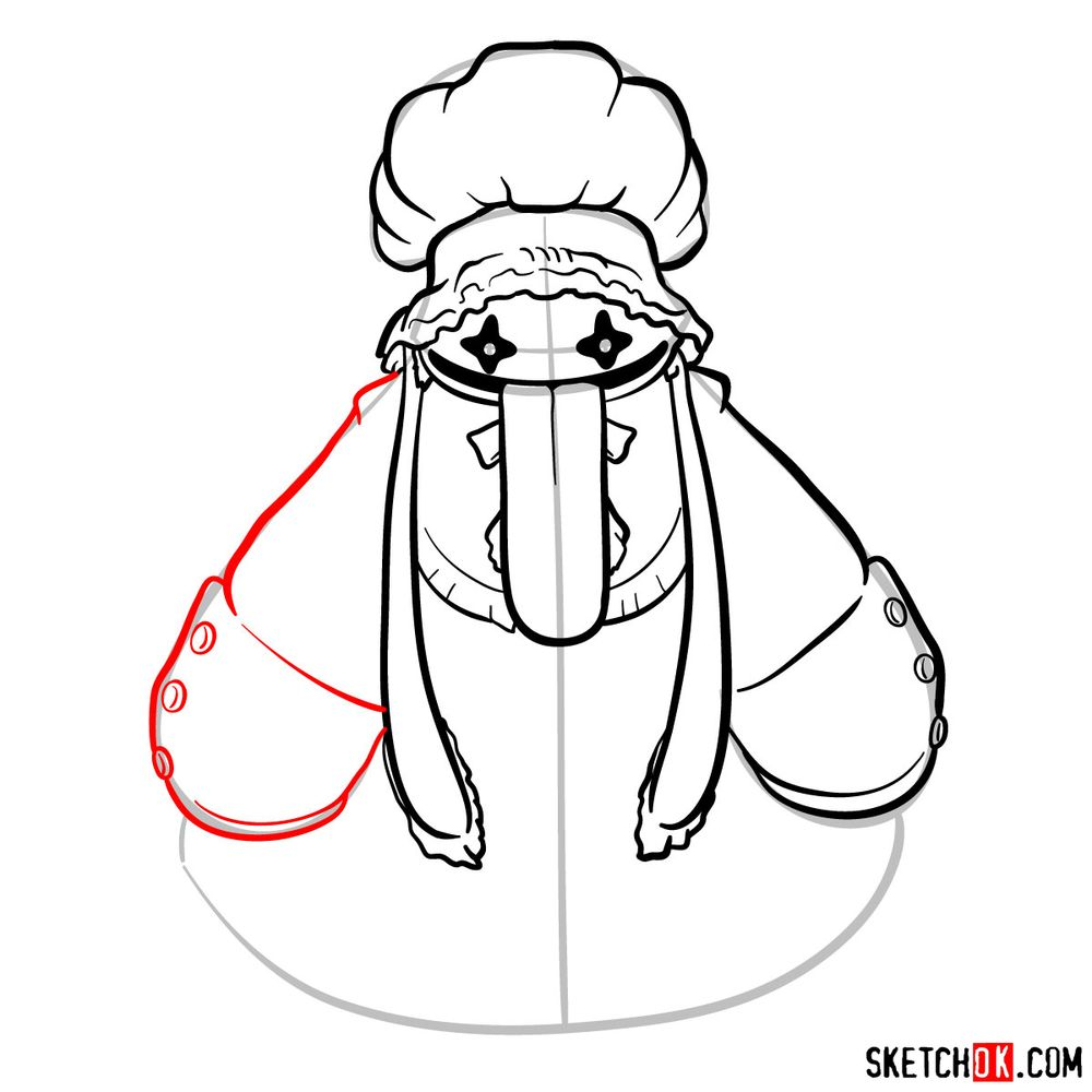 How to draw Quina Quen - step 10