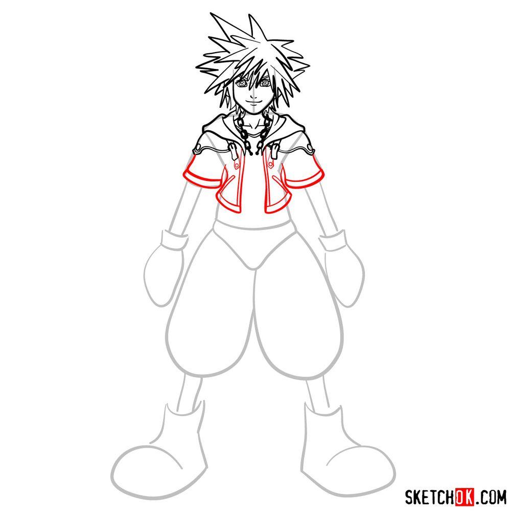 How to draw Sora - step 09