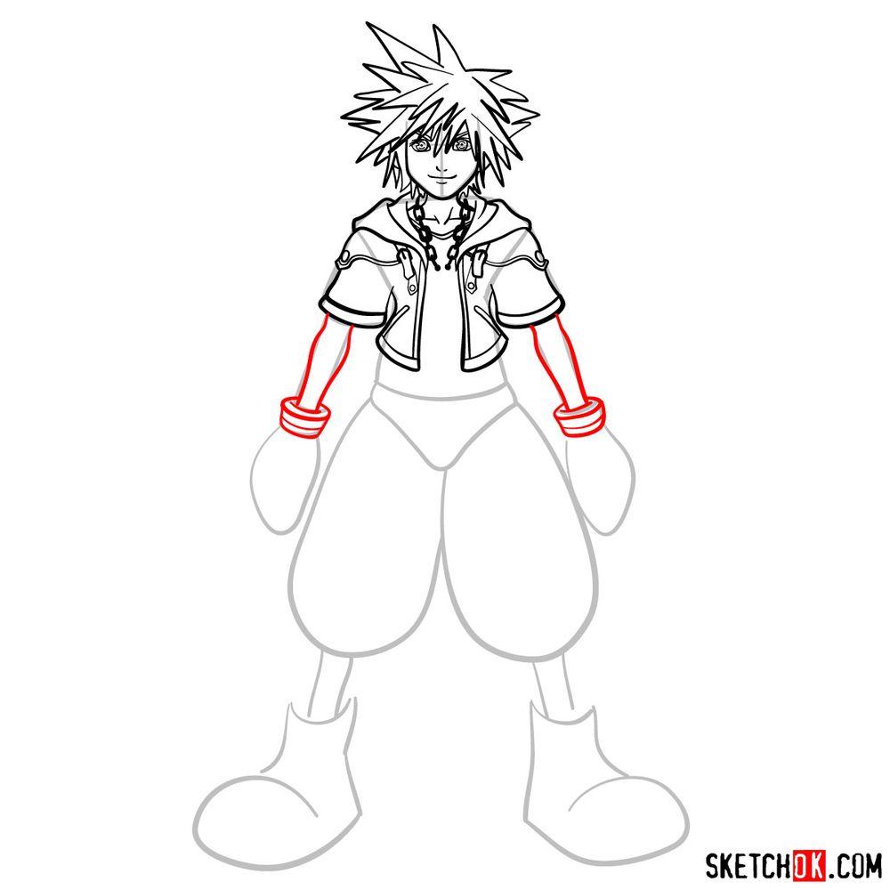 How to draw Sora - step 10
