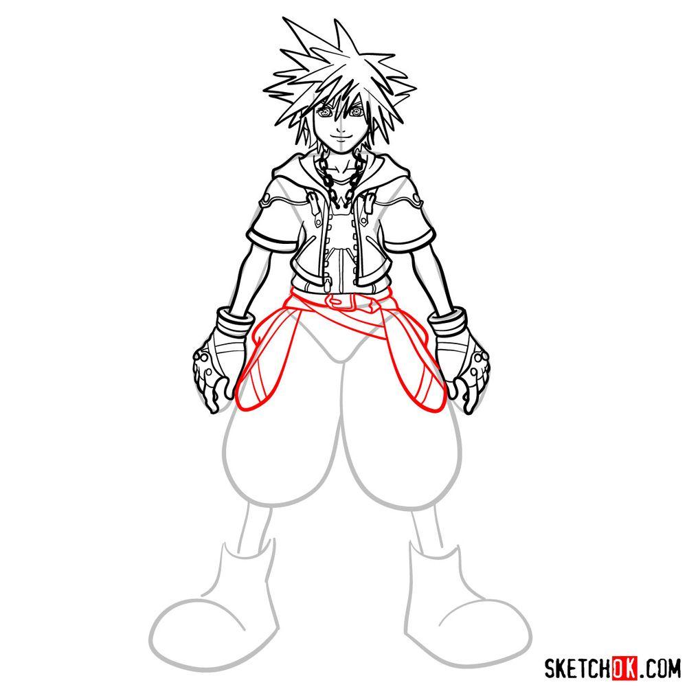 How to draw Sora - step 13