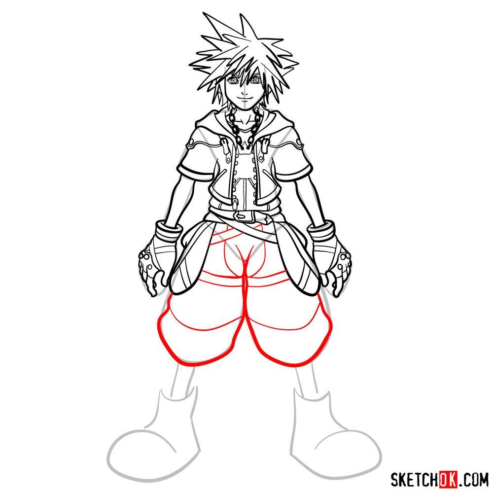 How to draw Sora - step 14