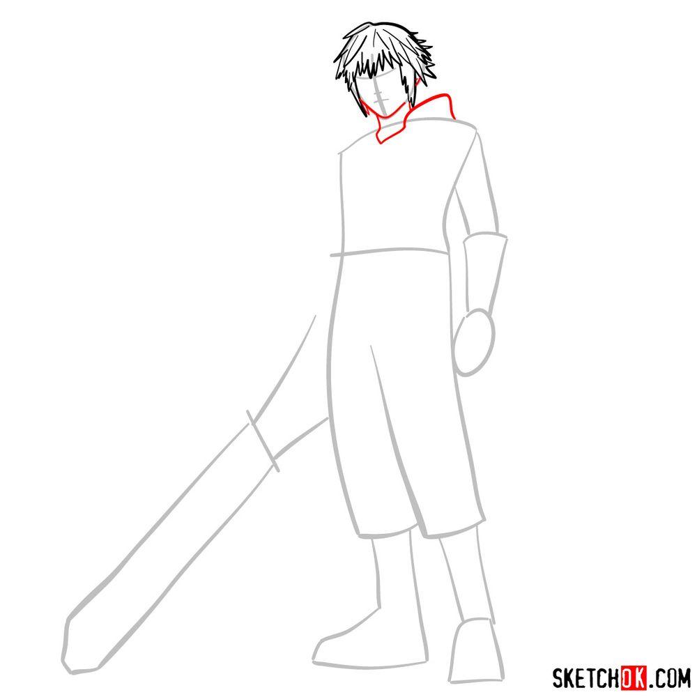 How to draw Riku - step 05