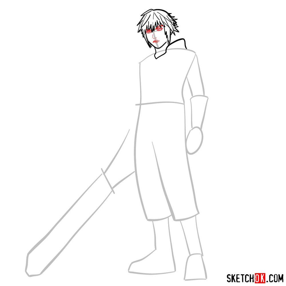 How to draw Riku - step 06