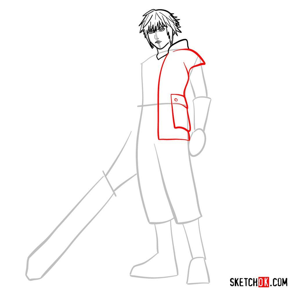 How to draw Riku - step 07
