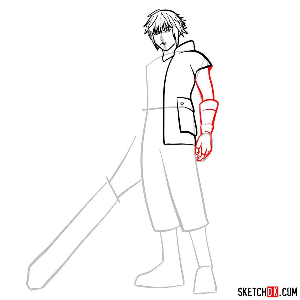 How to draw Riku - step 08