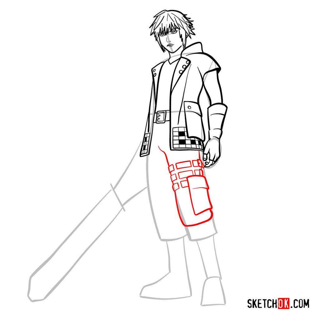 How to draw Riku - step 11